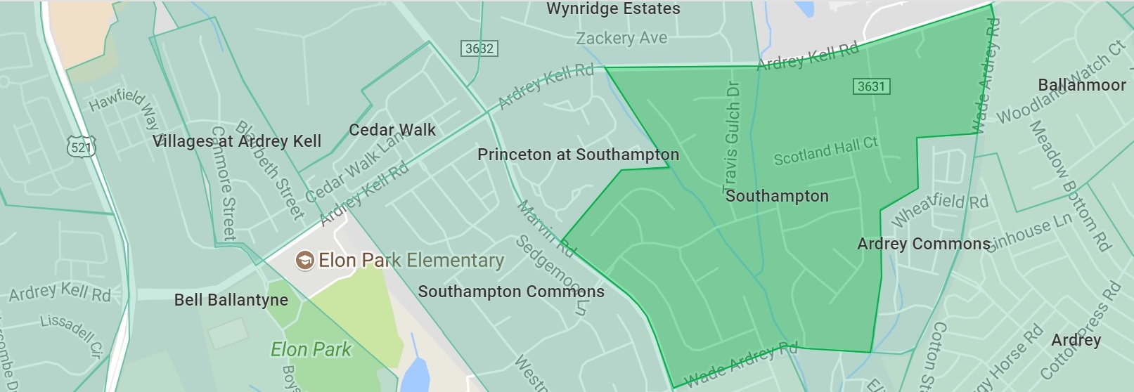 Southampton and Southampton Commons are hot Ballantyne neigborhoods in Charlotte