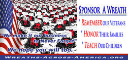 Sponsor a wreath for Wreaths Across America Day