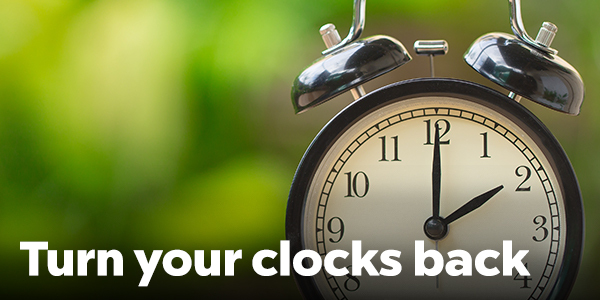 Set your clocks back and fall back