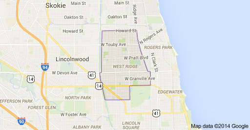 The west rogers park area is also known as west ridge