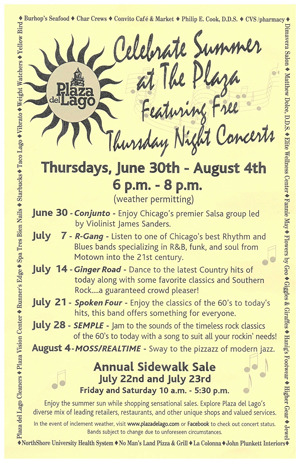 Wilmette IL Thursday Night Concerts Plaza del Lago