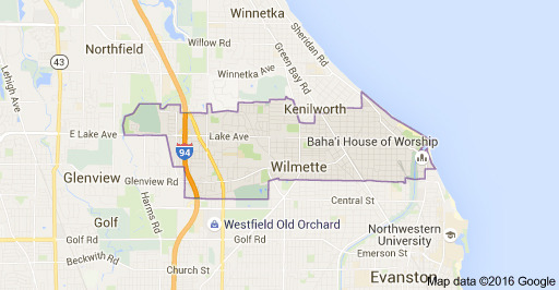Wilmette IL Google Map