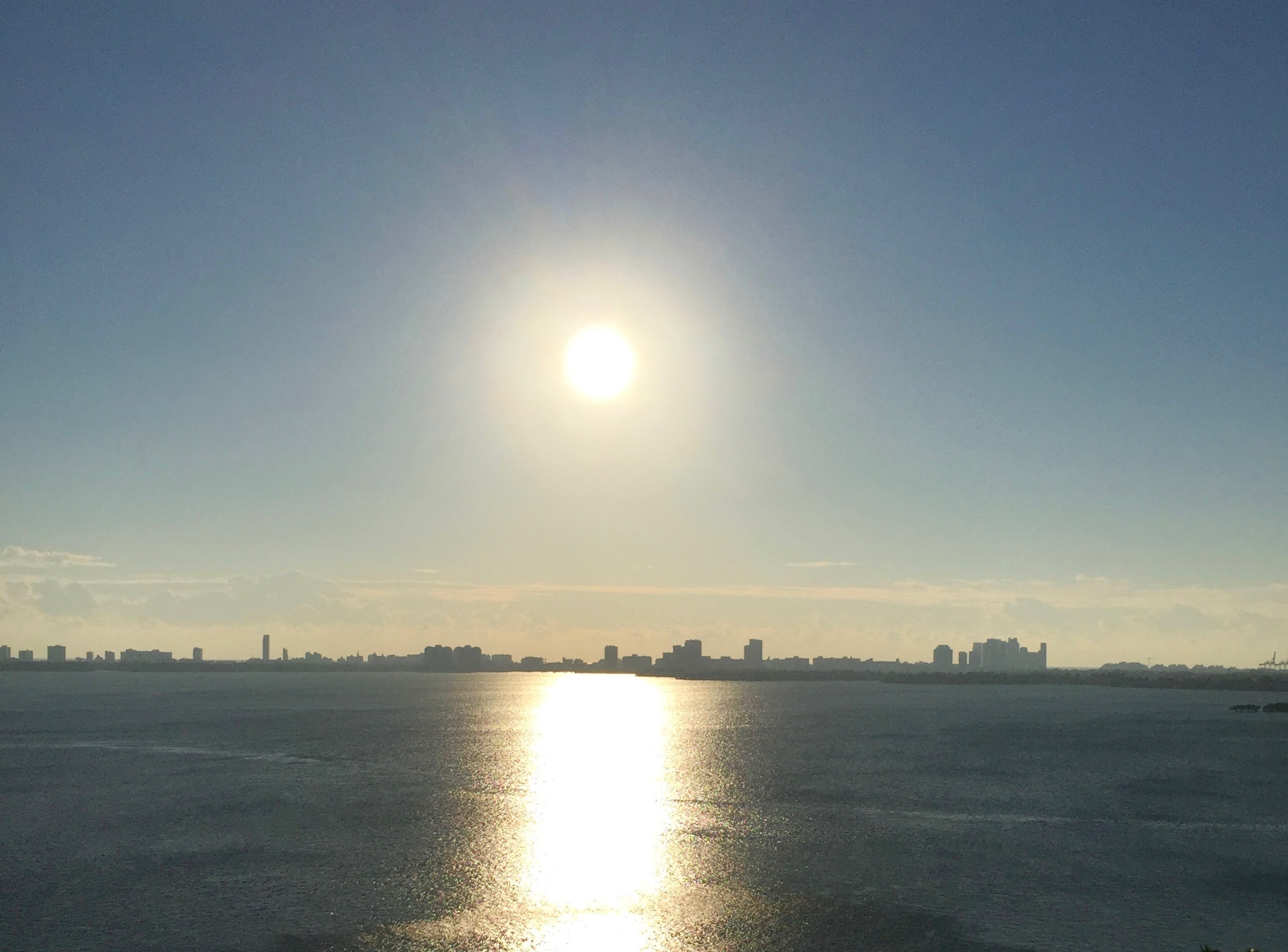 Rising Sun over Biscayne Bay, Miami