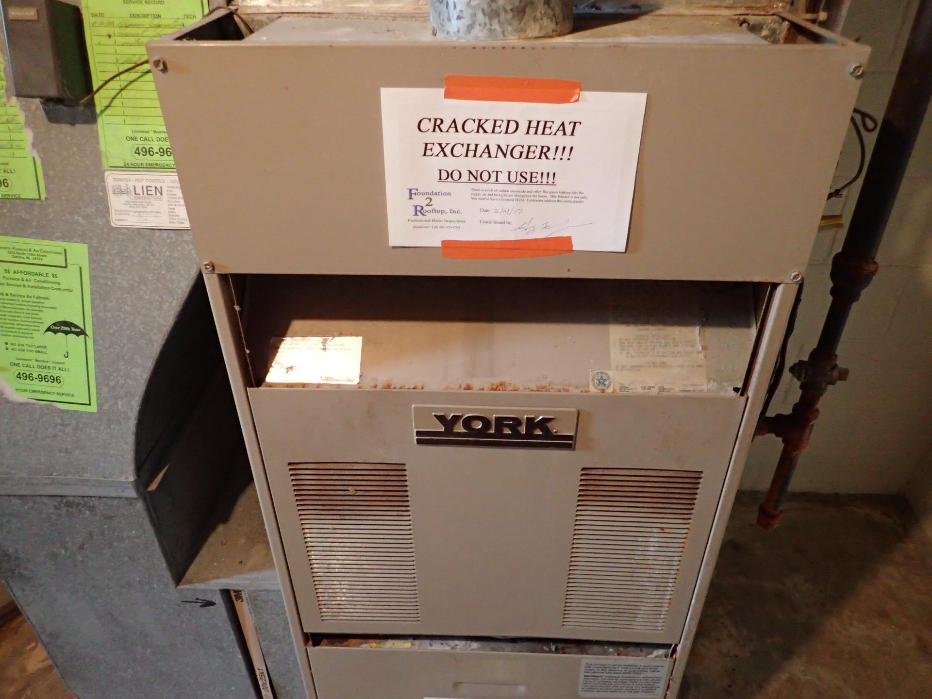 Cracked Heat Exchanger On York Furnace In Omaha Ne