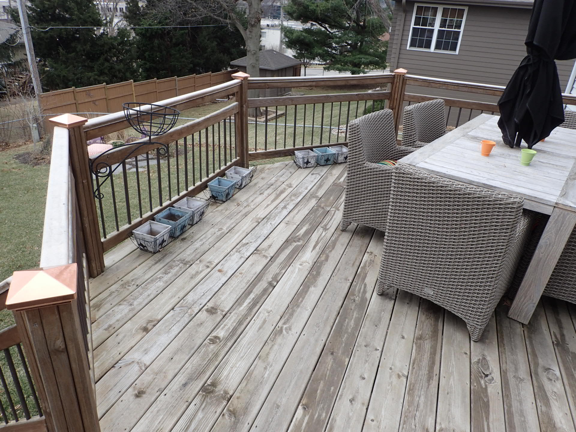 Looks can be deceiving on this deck railing