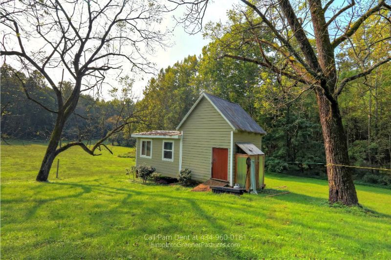 VA Historic Real Estate Properties for Sale - Gain additional storage spaces with the outdoor shed of this historic country estate in Central VA.