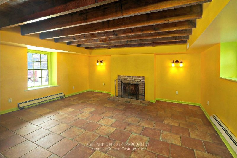 Historic Real Estate Properties for Sale in VA - A large English basement is waiting for you in this historic country home in Central VA.