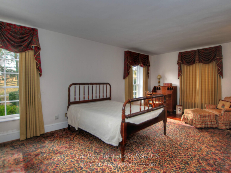 Central VA Farms for Sale - The roomy master suite of this Central VA farm is the best spot to rest and relax.
