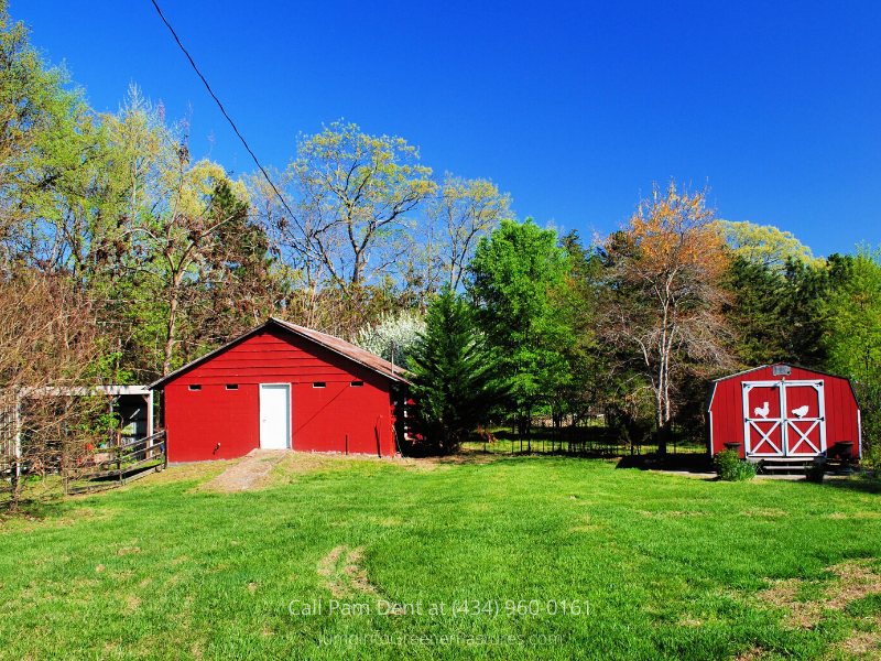 Central VA Country Property - Everything you need to start a self-sufficient farmette in this Central VA country property for sale.