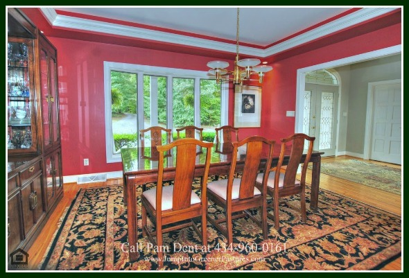 Scottsville VA Luxury Real Estate Properties for Sale - The formal dining room of this Central Virginia luxury home for sale is perfect for both formal and casual dining.