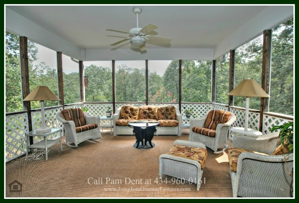 High-end Homes in Scottsville VA - Entertaining is easy when you have as many decks, patios and porches as this Central Virginia luxury country home for sale.