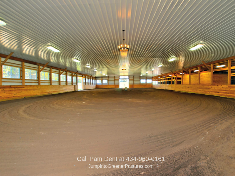 Virginia Equestrian Properties - The indoor arena of this Virginia horse farm is perfect if you're planning to run an equestrian training center.