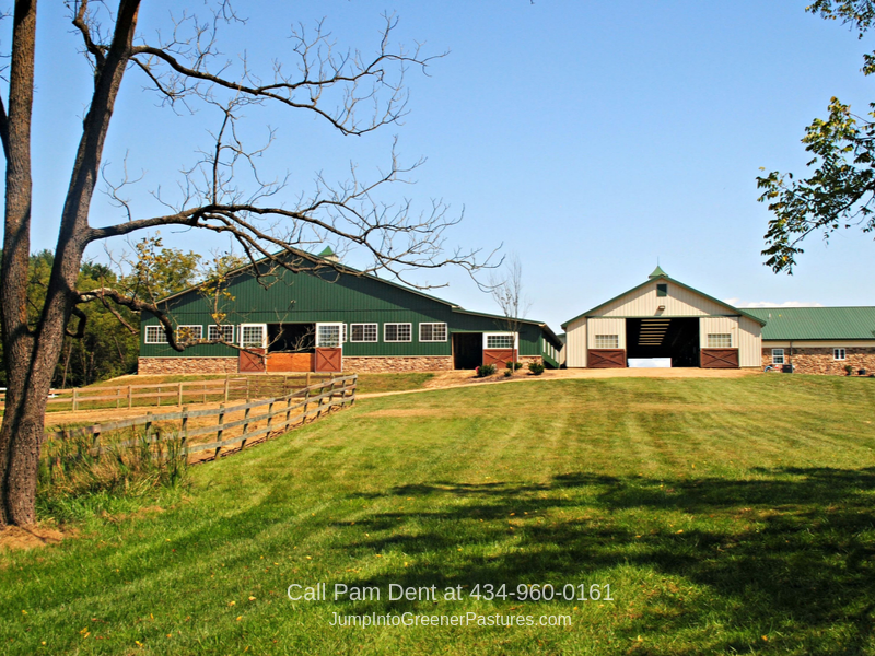 Virginia Horse Farms for Sale - You'll love the amenity-packed stable, wide riding spaces, and stunning mountain views of this Virginia equestrian property.