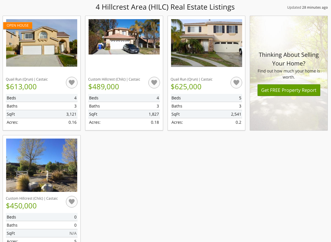 Castaic realtor presents Hillcrest community homes for sale