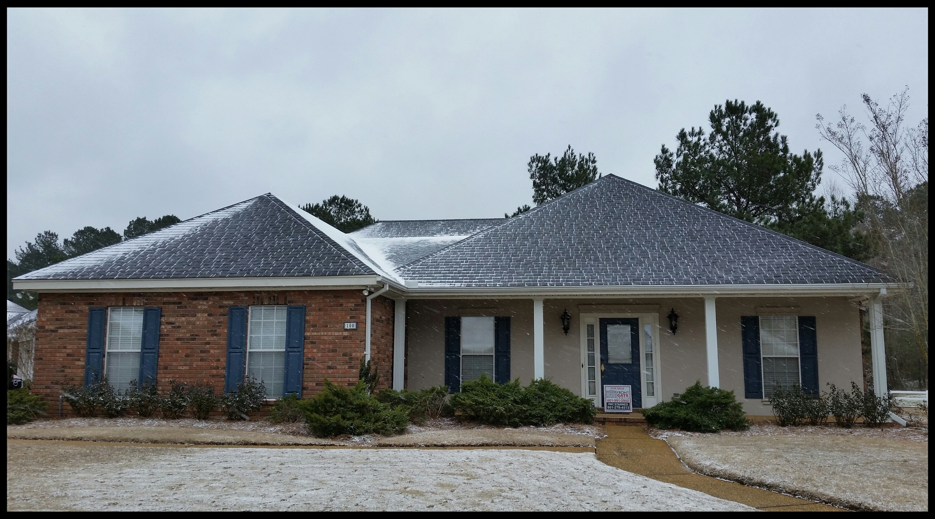 Sold house in the MS snow