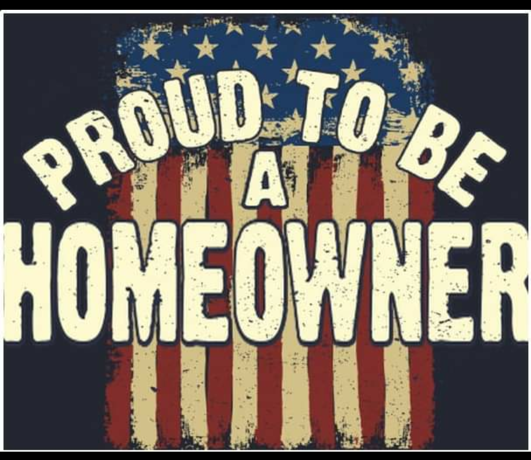 Proud to Be a Homeowner with American Flag