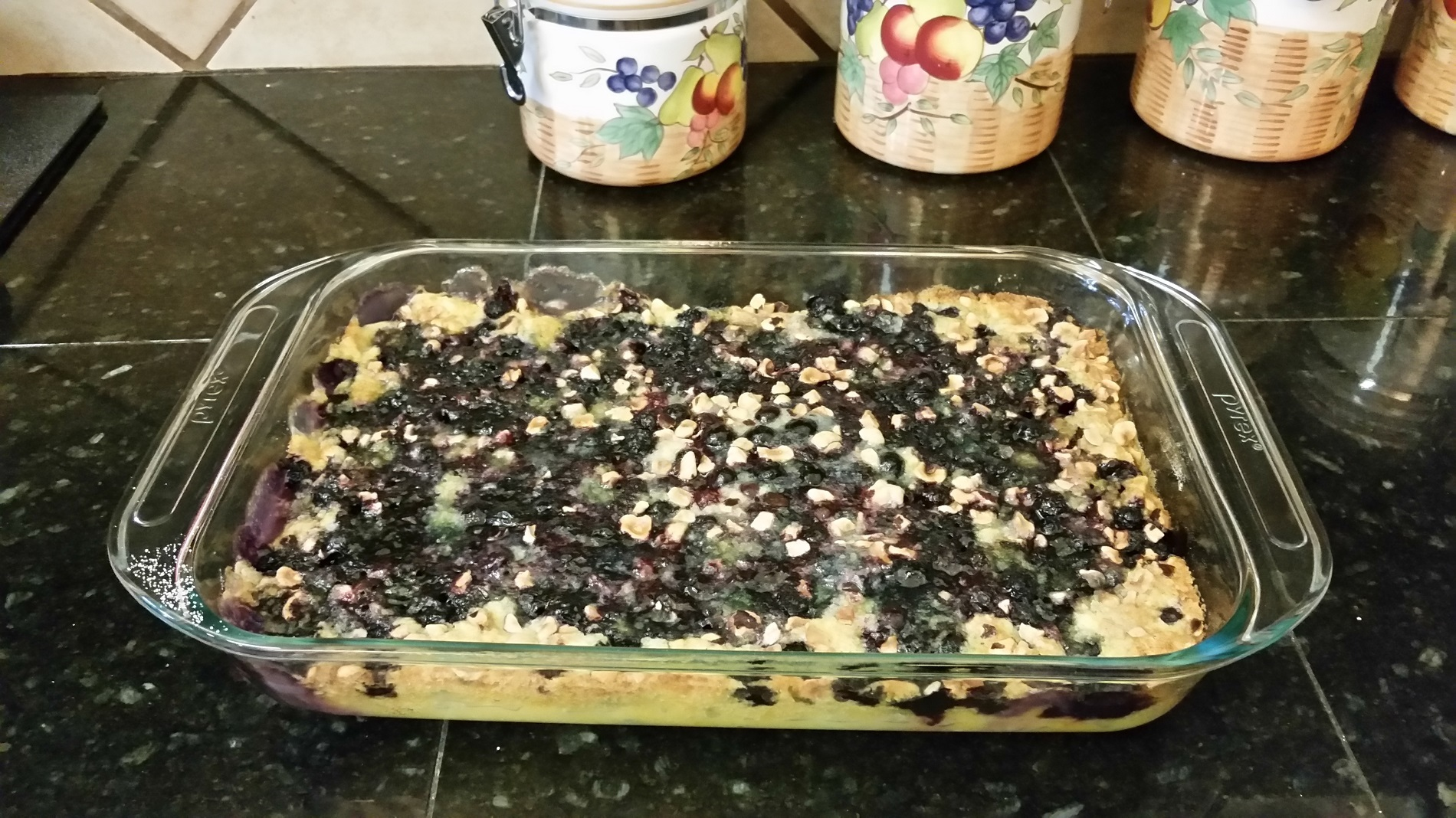 Baked blueberry crunch by Pat Starnes