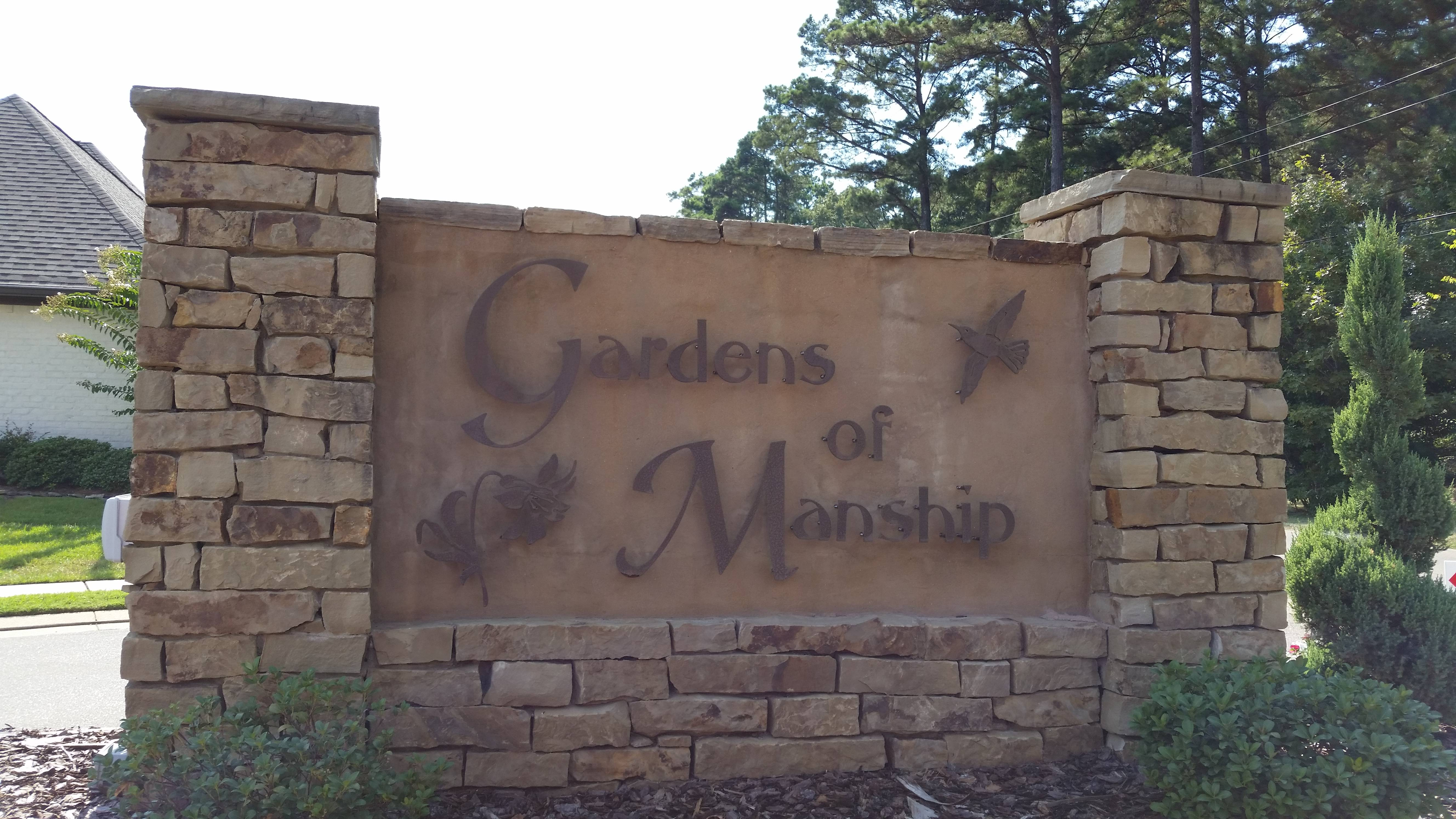 Gardens of Manship sign by Pat Starnes