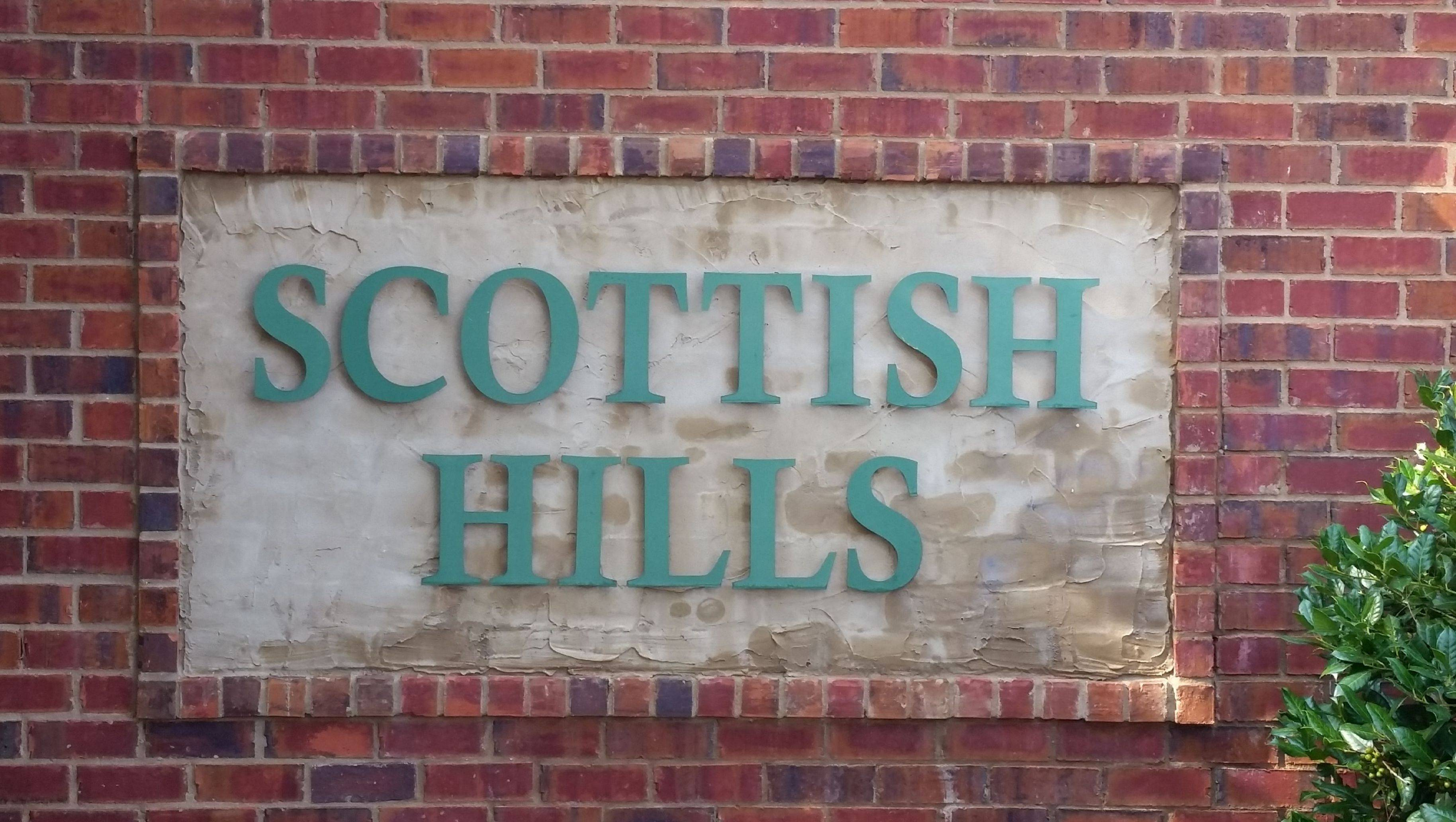 Scottish Hills Sign by Pat Starnes