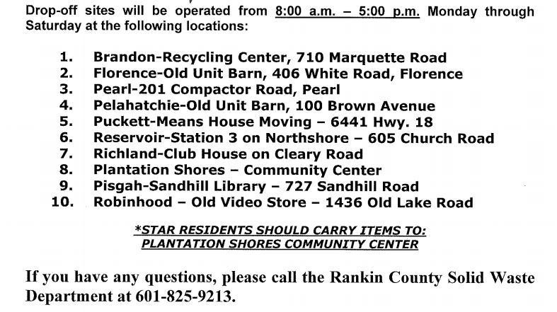 Recycle addresses for Rankin County