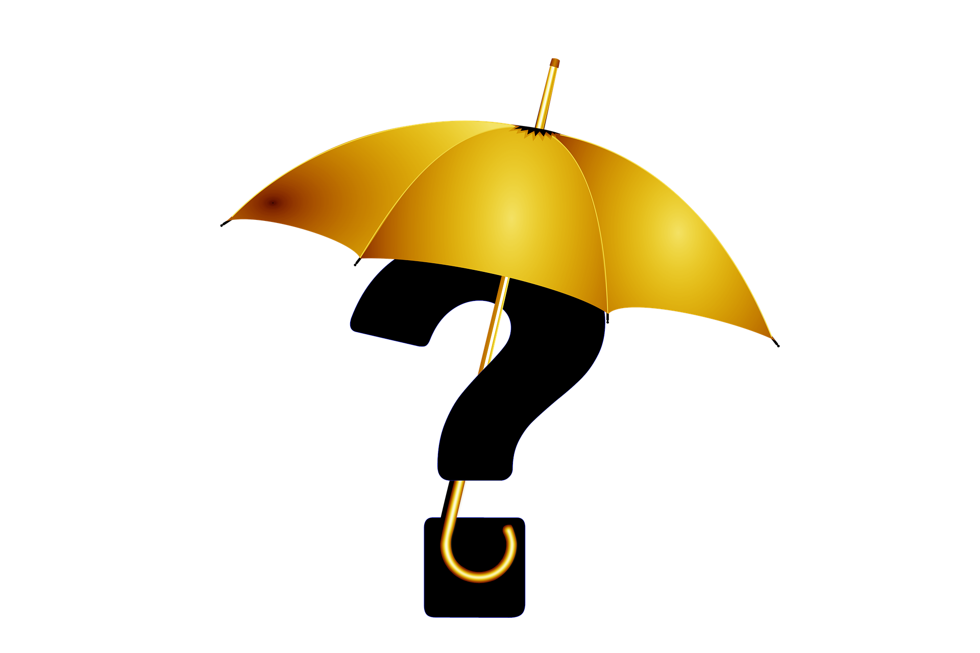 Question Mark with Umbrella