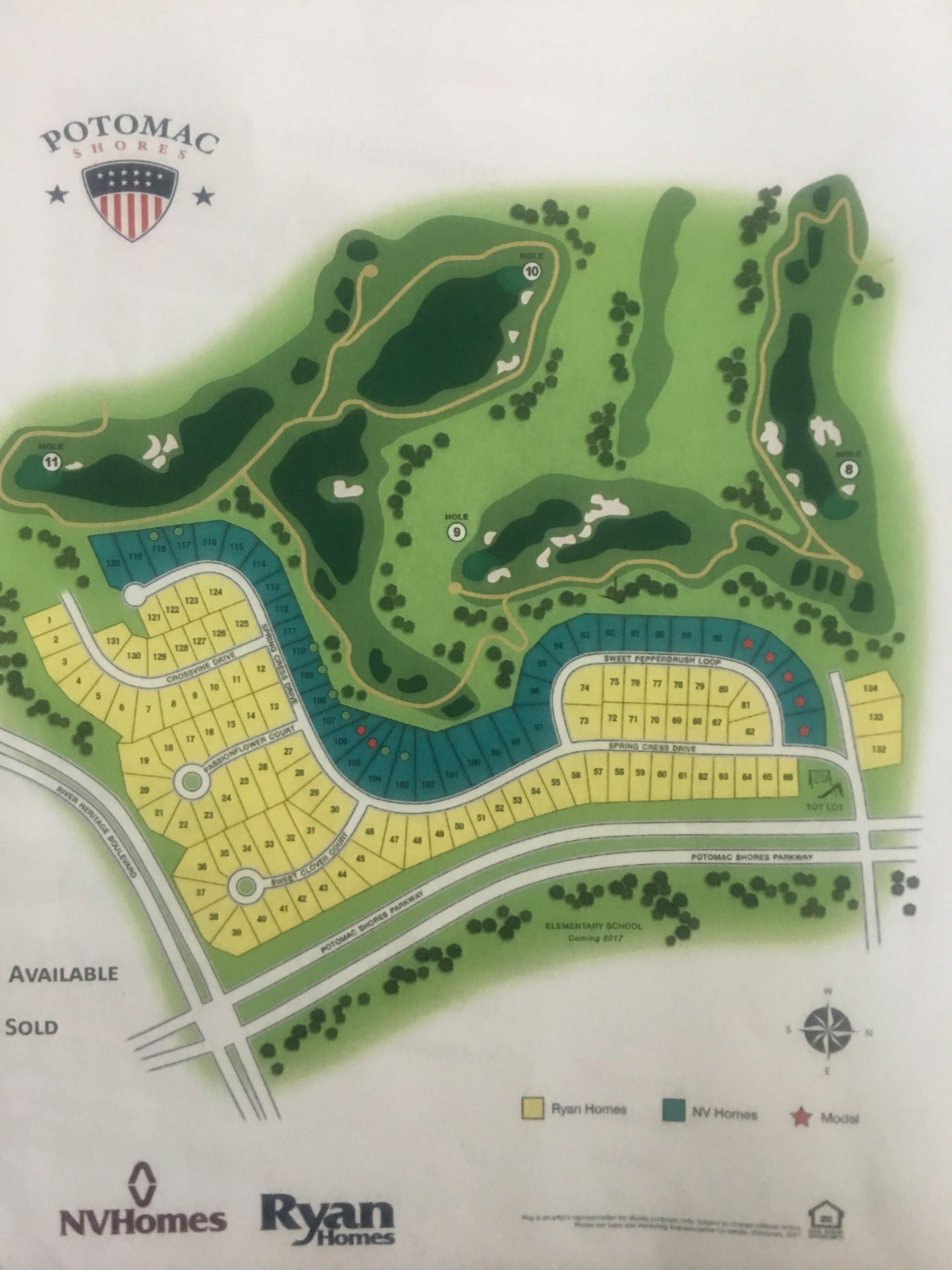 New homes for sale in Potomac Shores single family homes