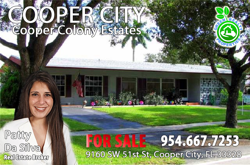 Cooper City Listing Broker and REALTOR Patty Da Silva Green Realty Properties