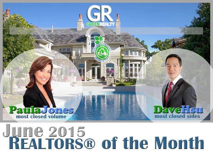 Green Realty Properties June 2015 REALTORS® of the Month