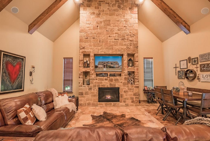 Texas soaring living room