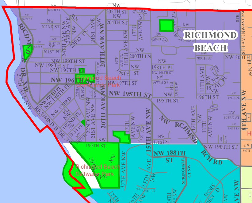 Richmond Beach Neighborhood In Sline Washington