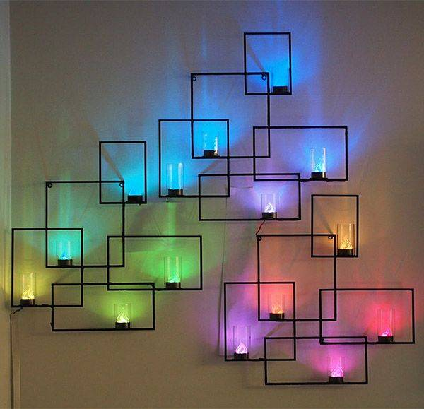 This Led Wall Decoration Provides Soothing Color And Eye Catching Art