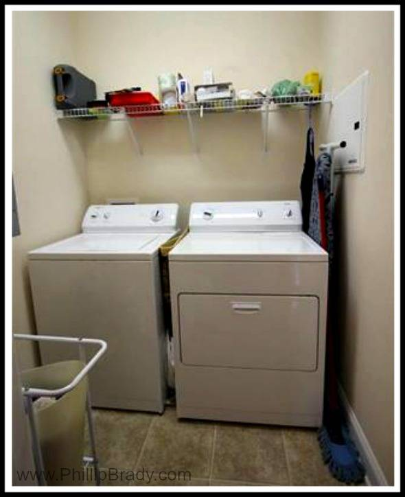 This condo for sale in Pawleys Island also features a sizable laundry room.