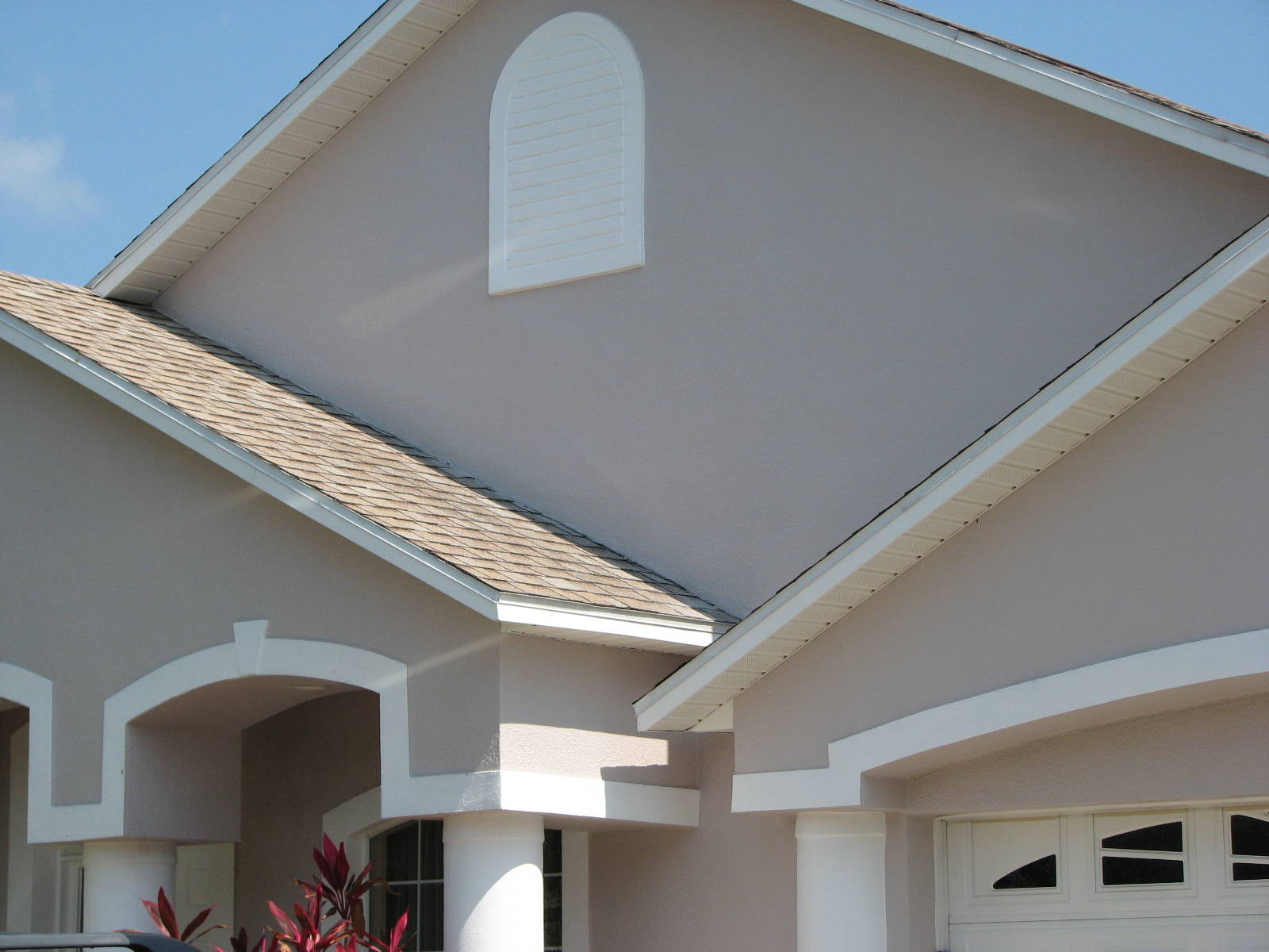 merritt island stucco repair and exterior painting before and after. Black Bedroom Furniture Sets. Home Design Ideas