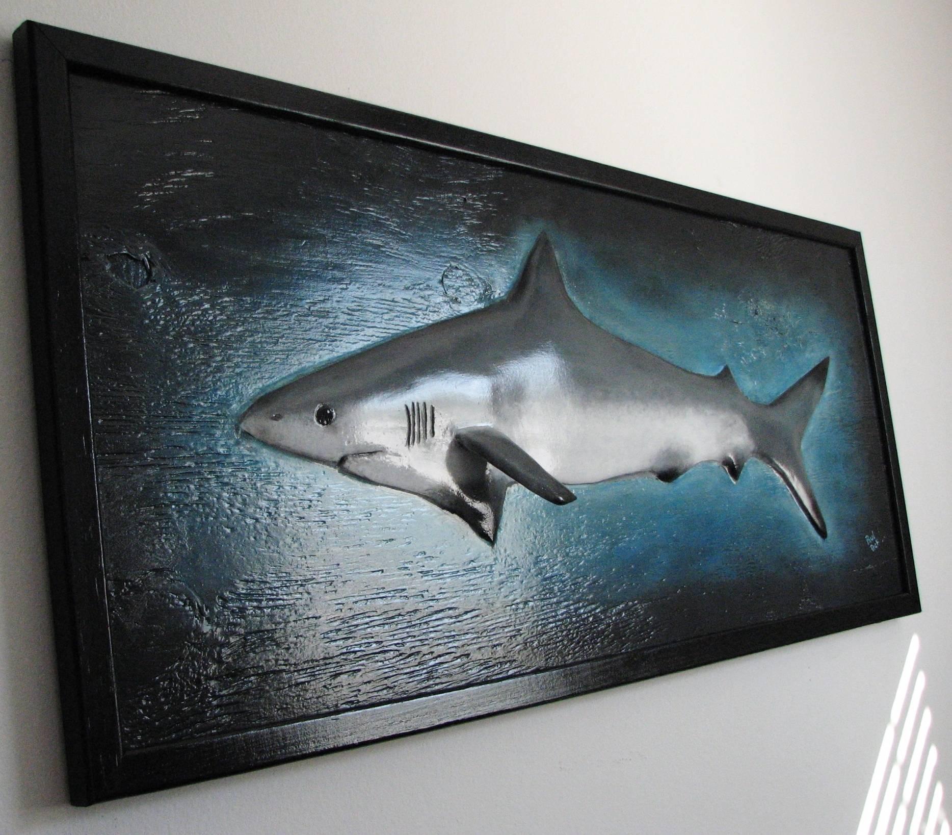 My Black Tip Shark Sculpture Completed