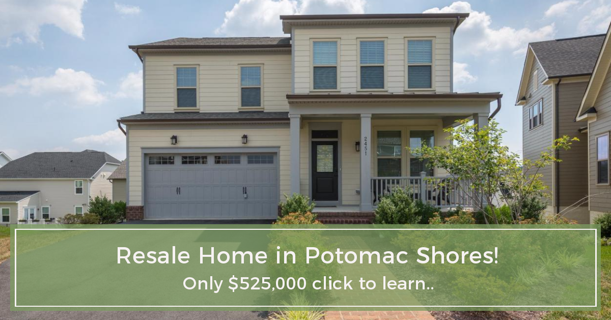 lowest priced resale home in Potomac Shores Dumfries VA