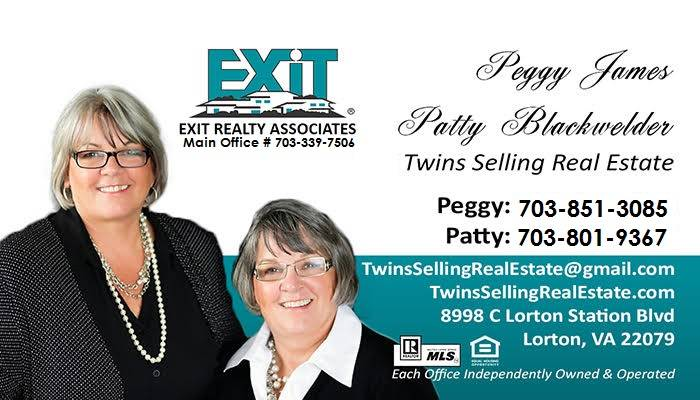 Twins Selling Real Estate EXIT Realty Associates Lorton Virignia