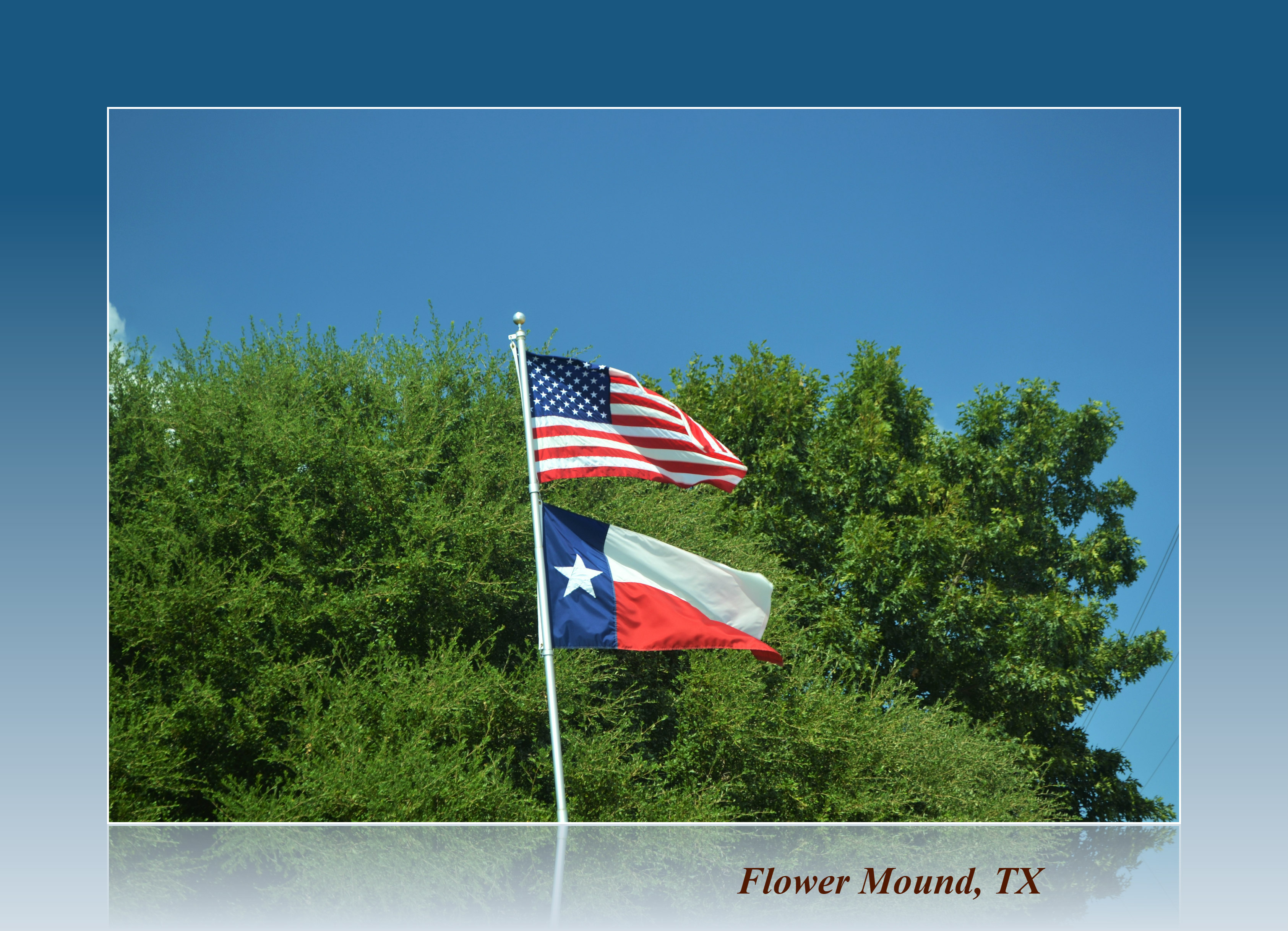 Flower Mound Texas Flags
