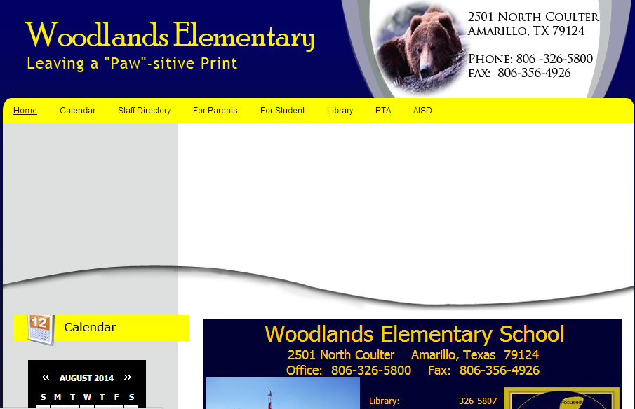 Woodlands Elementary School Web Site