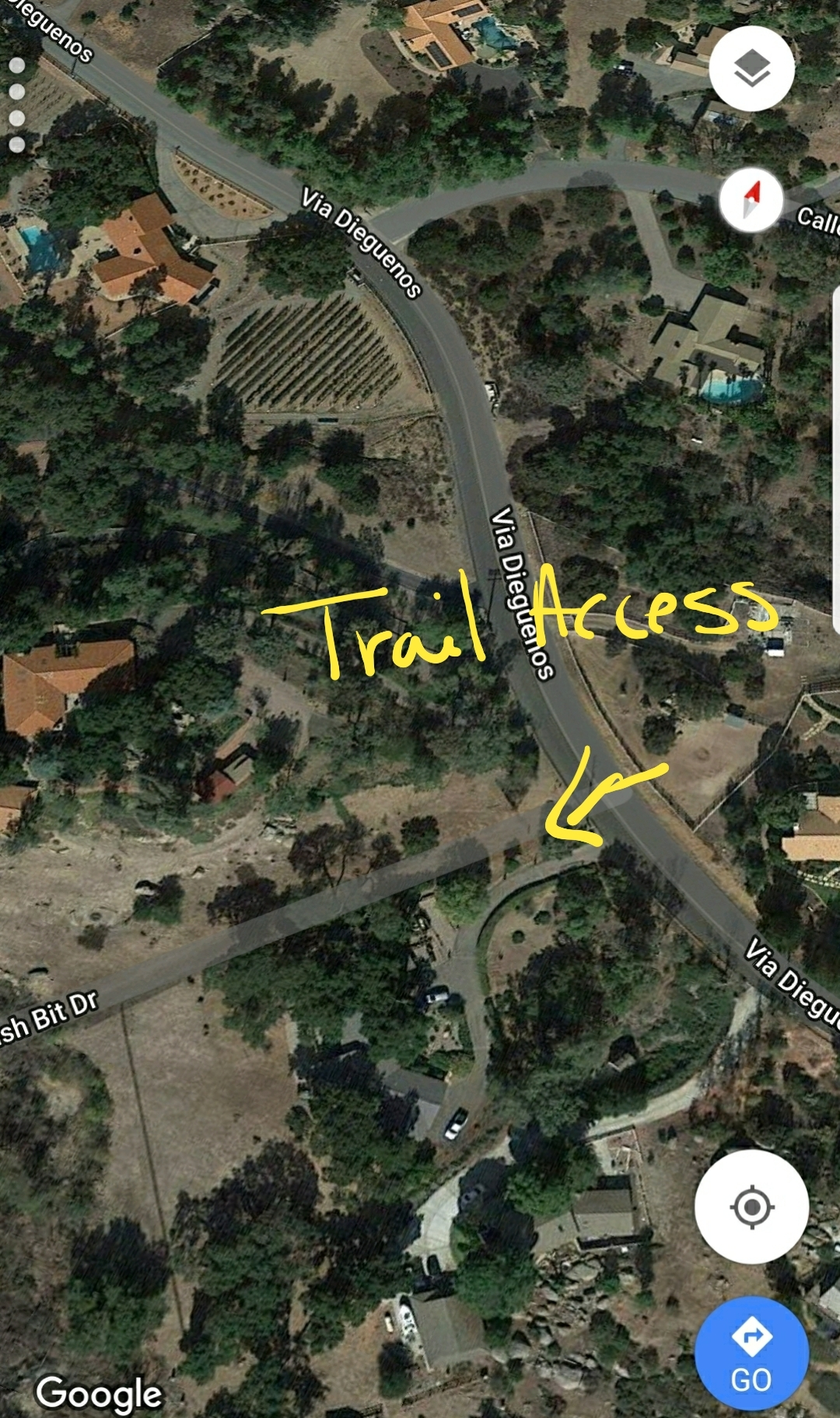 Access to California Riding and Hiking Trail