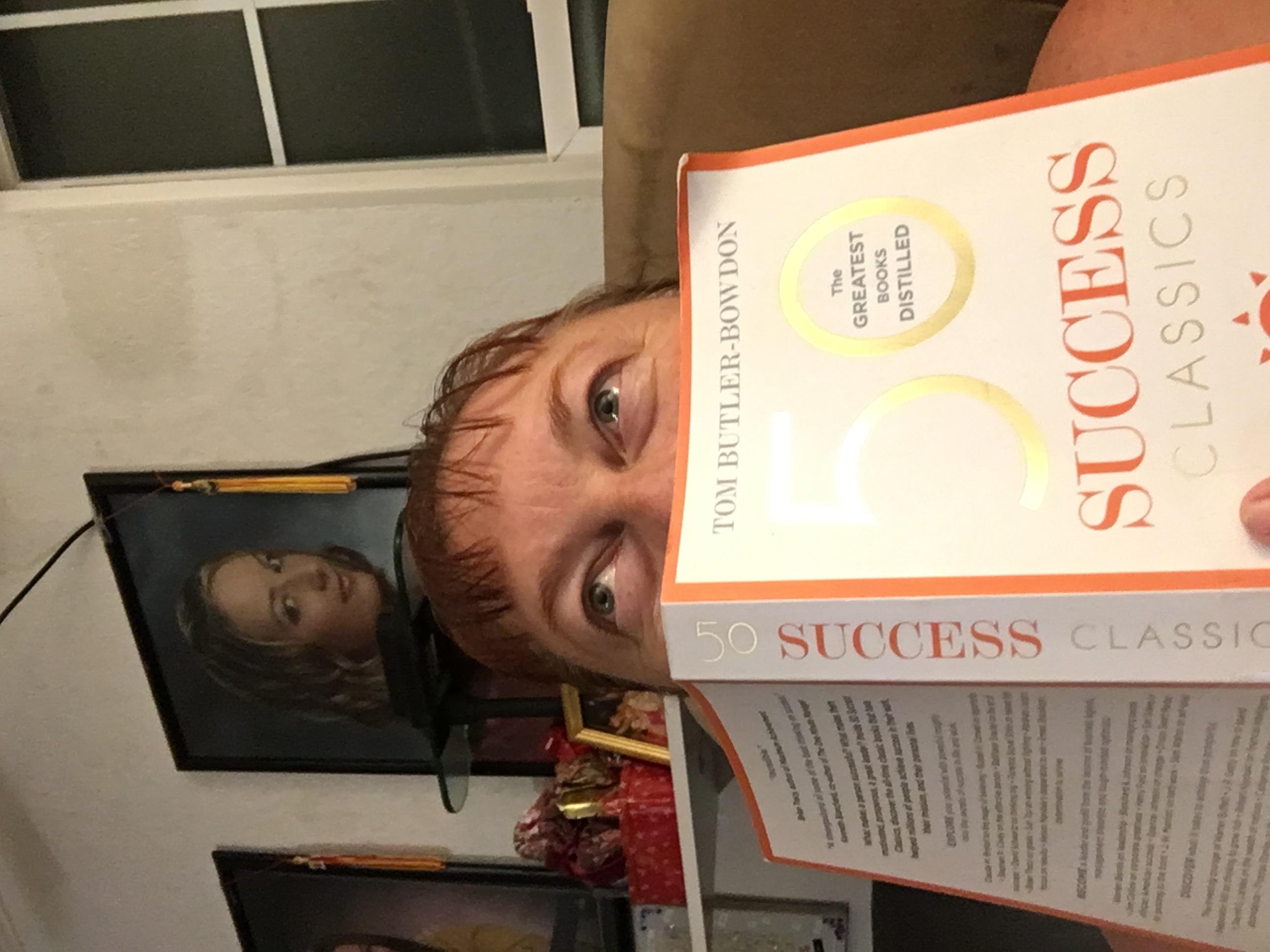 Michelle reading book