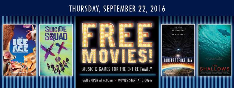 Loving Free Drive-In Movie Night-Double Feature Ice Age, Suicide Squad image