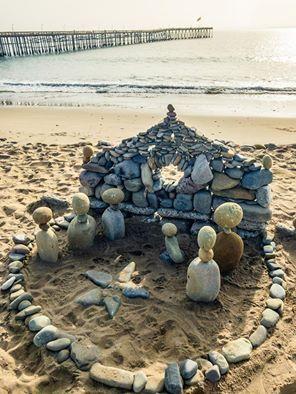 this nativity scene is rockin merry christmas on the beach - Merry Christmas Beach