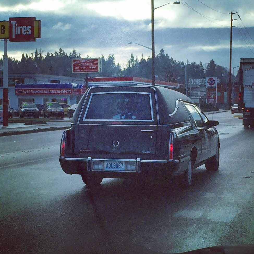 Hearst carrying veteran to final resting in Kent, Washington.