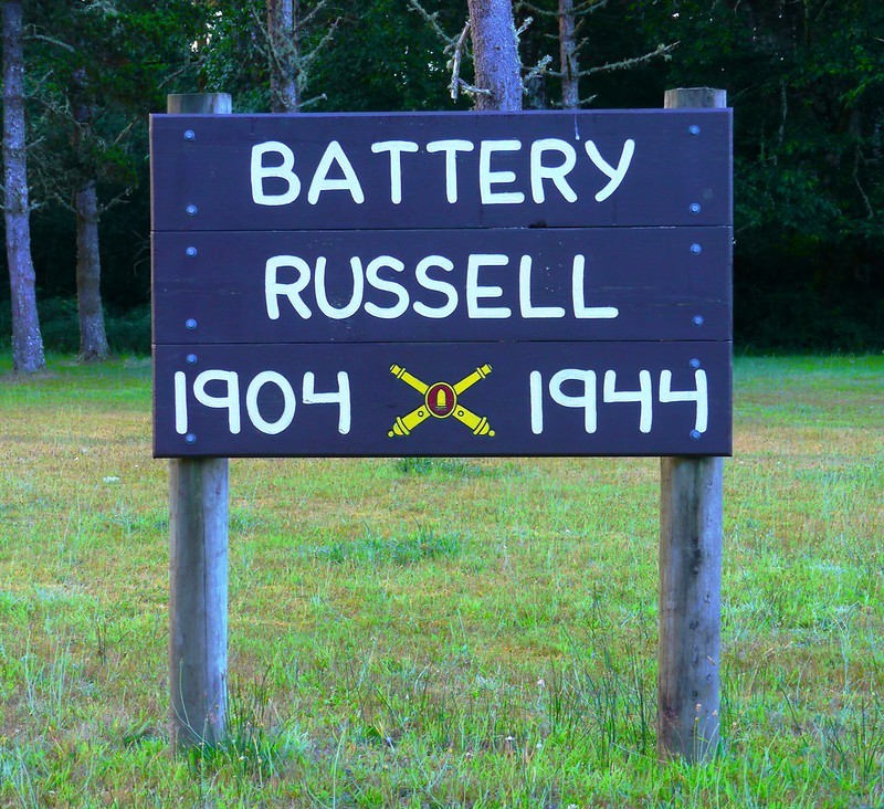 Battery Russell Sign