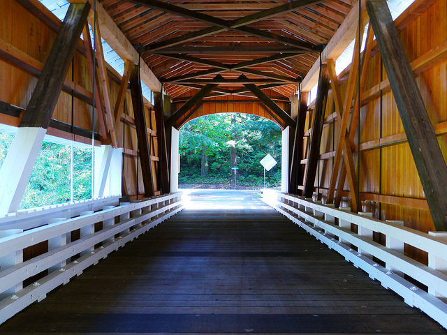 Interior of Wildcat Covered Bridge