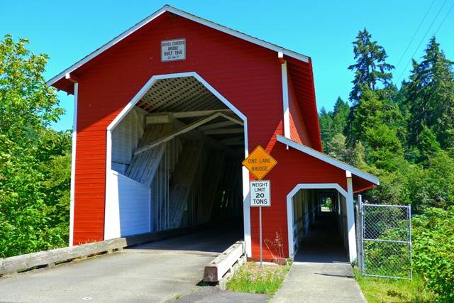 Westfir Covered Bridge, Westfir, Oregon