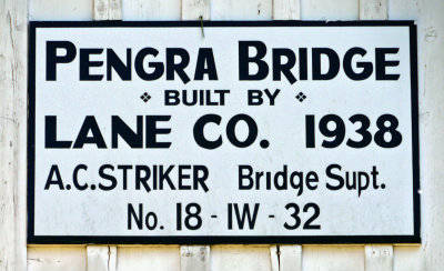Pengra Covered Bridge Plaque