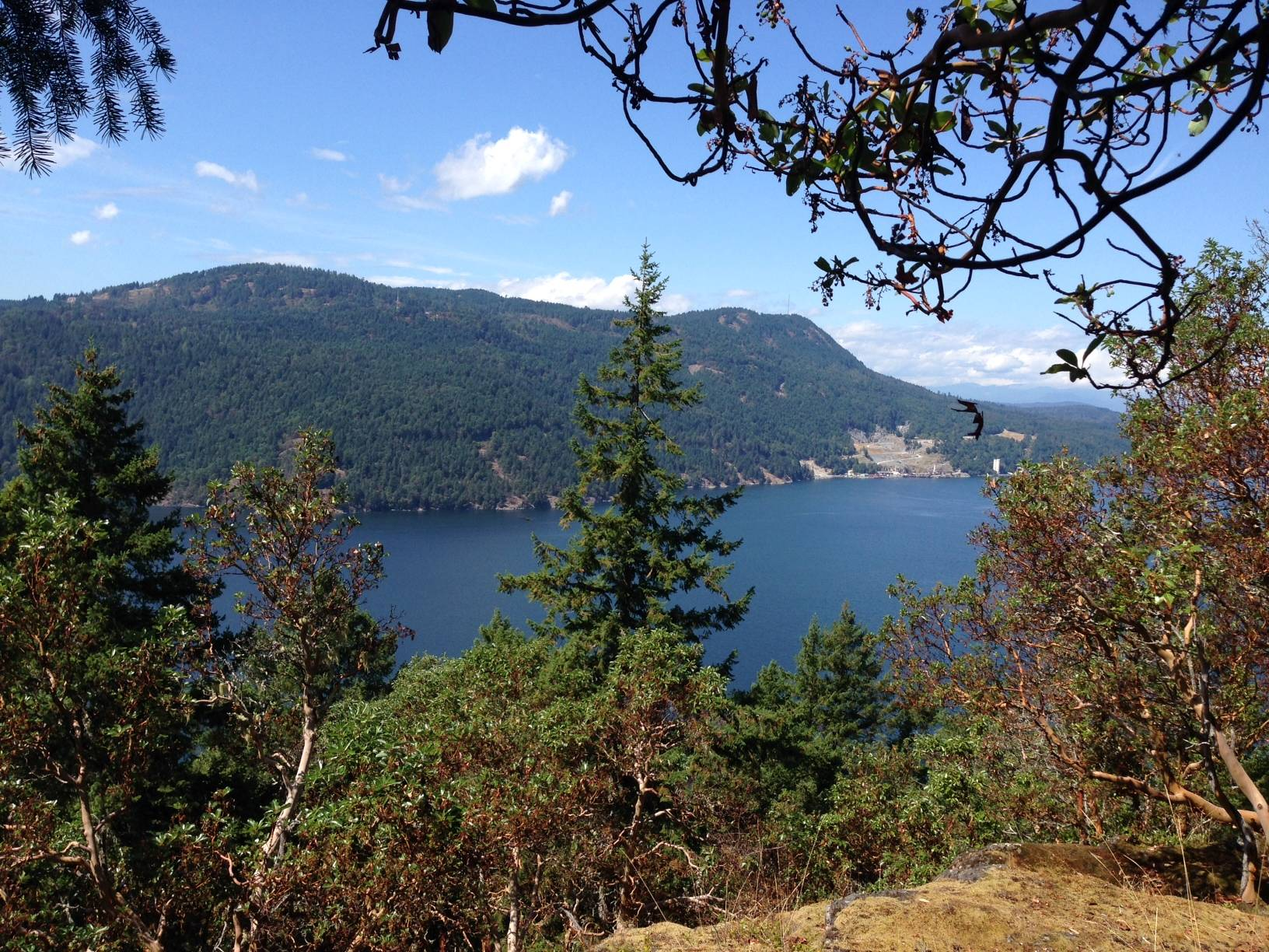 Looking at Bamberton on Malahat