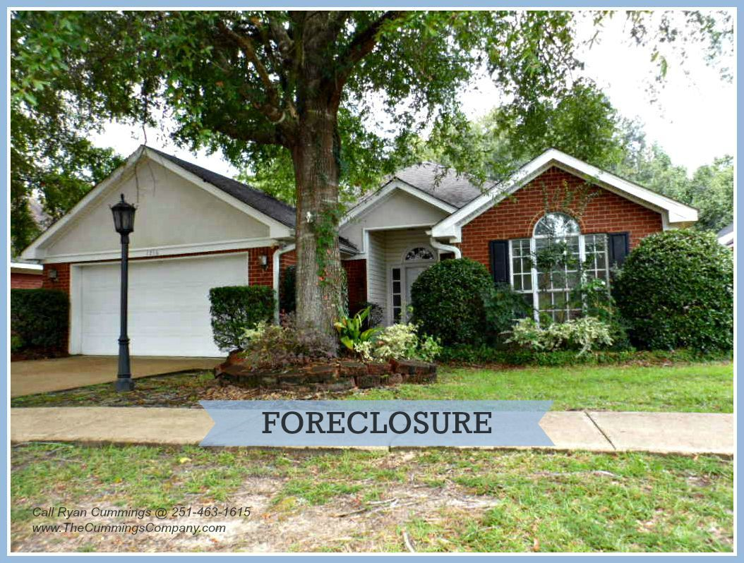1216 Hillcrest Xing W Mobile AL 36695 | West Mobile 3 Bed 2 Bath Foreclosure For Sale