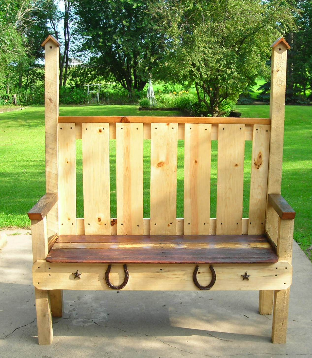 Rustic Birdhouses A New Bench By Rons Rustic Birdhouseshope You Like It